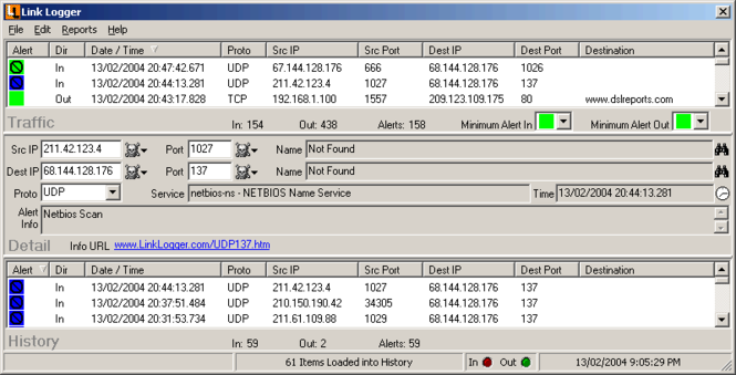 Link Logger - Linksys Protocol Screenshot