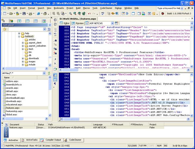 HotHTML 3 Professional Screenshot 1