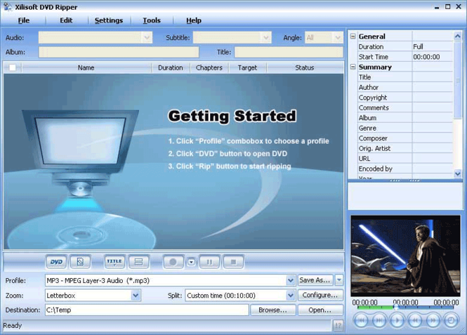 Xilisoft DVD Ripper Screenshot