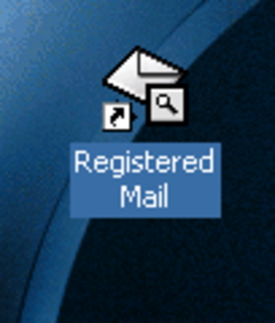 Registered Mail Screenshot