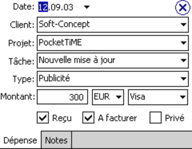 PocketTiME Français Screenshot