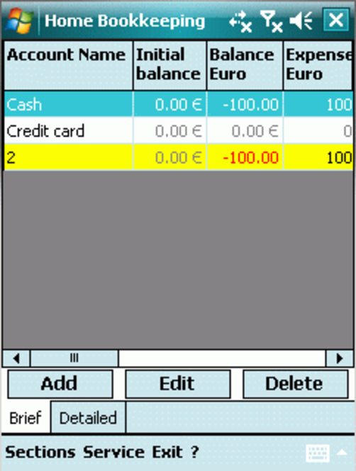 Home Bookkeeping PPC Screenshot