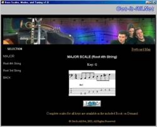 Bass Guitar Scales, Modes and Tunings Screenshot