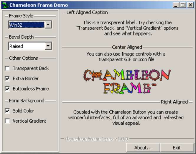 Chameleon Frame Screenshot