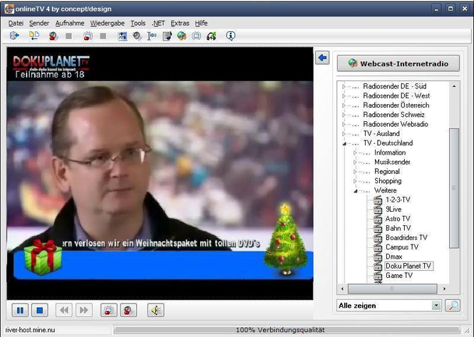 onlineTV Screenshot 1
