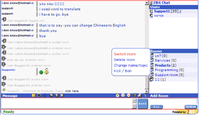 ASP.NET Chat Pro Screenshot