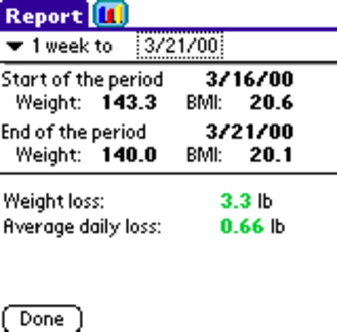UTS Weight for Palm OS Screenshot