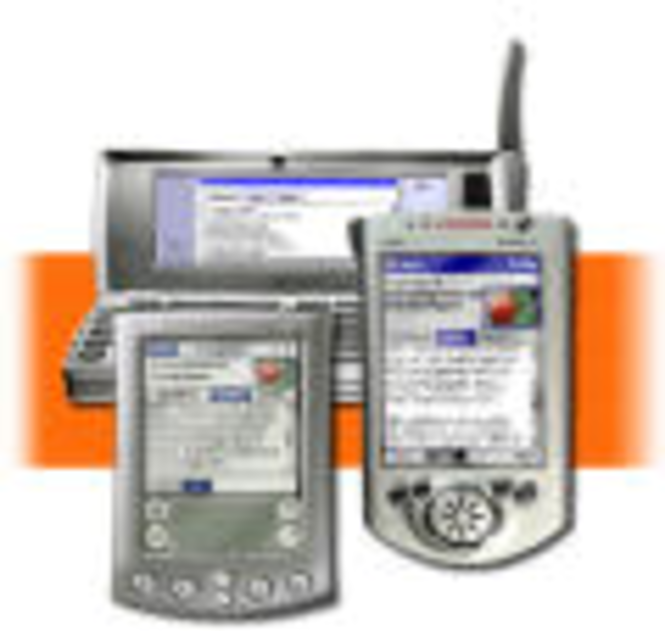 * OpusFlow CRM PDA synchronization module. Screenshot