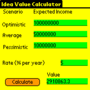 Idea Value Calculator for Windows OS 1