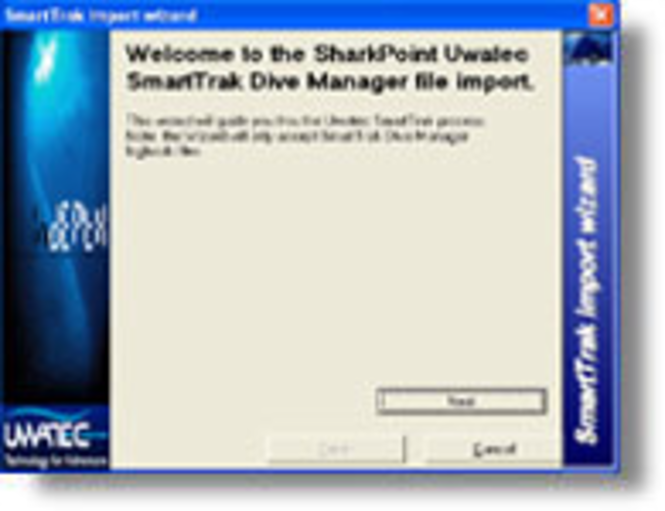 SmartTrak Manager logbook Import for SharkPoint for Windows Screenshot