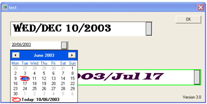 DateBox Screenshot