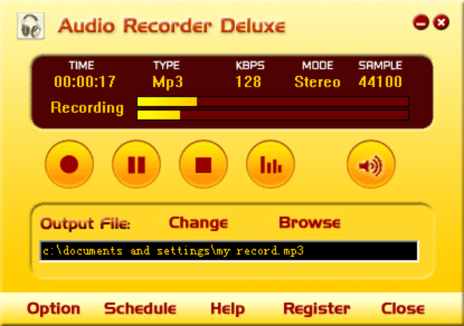 Audio Recorder Deluxe Screenshot 1