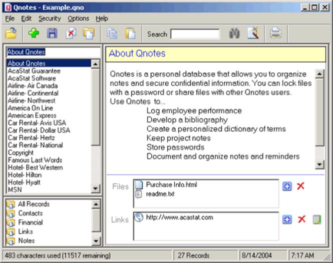 Qnotes Screenshot