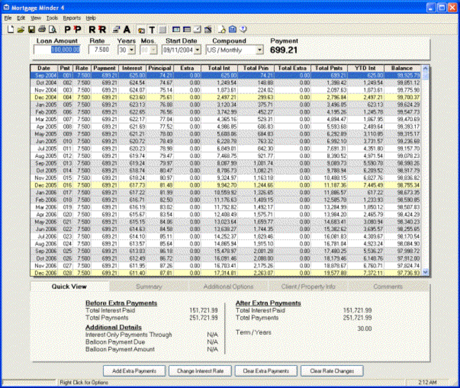 Mortgage Minder Screenshot