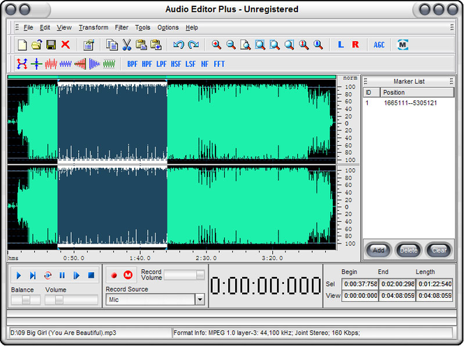 Audio Editor Plus Screenshot 1
