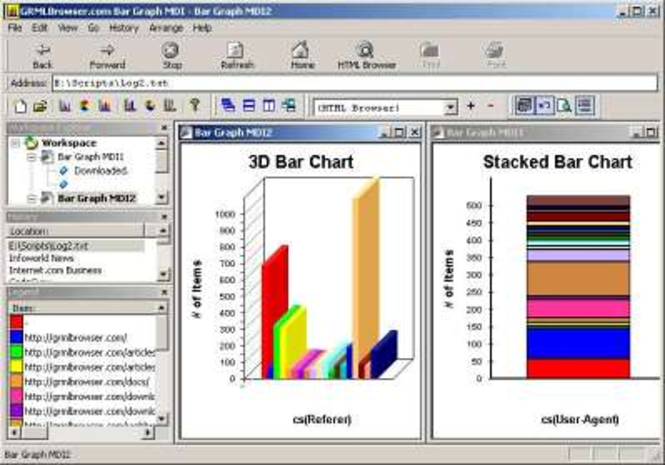 Bar Graph MDI Screenshot 1