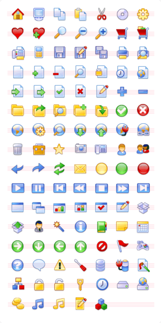 XP Pack Stock Icons Screenshot