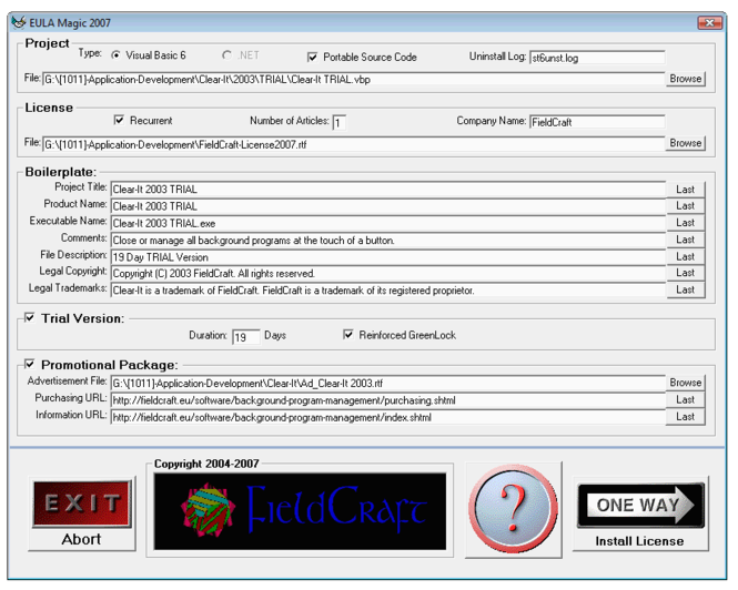 EULA Magic Screenshot