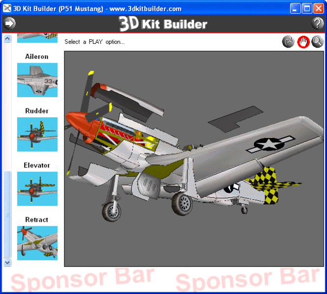 3D Kit Builder (P51 Mustang) Screenshot