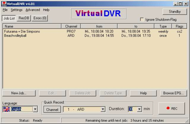 VirtualDVR Screenshot