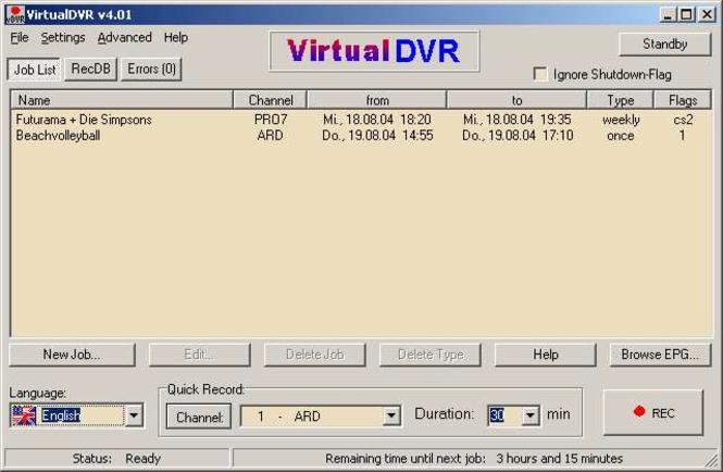 VirtualDVR Screenshot 1