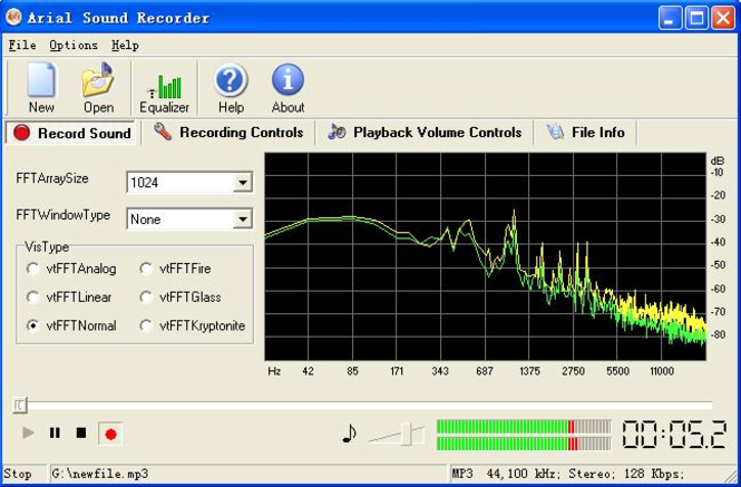 Arial Sound Recorder Screenshot