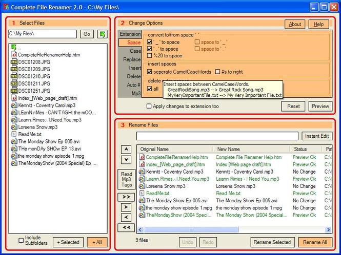 Complete File Renamer Screenshot 1