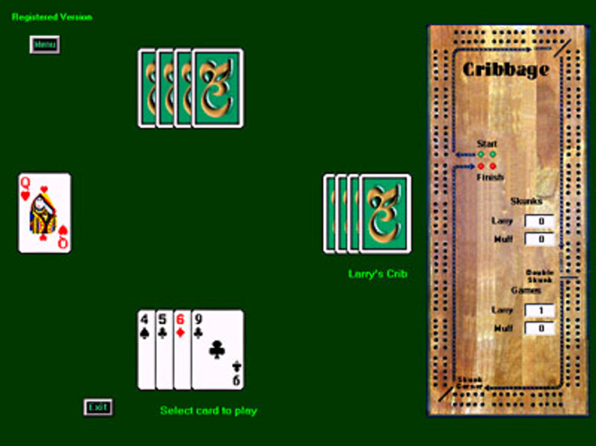 Cribbage for Windows Screenshot 1