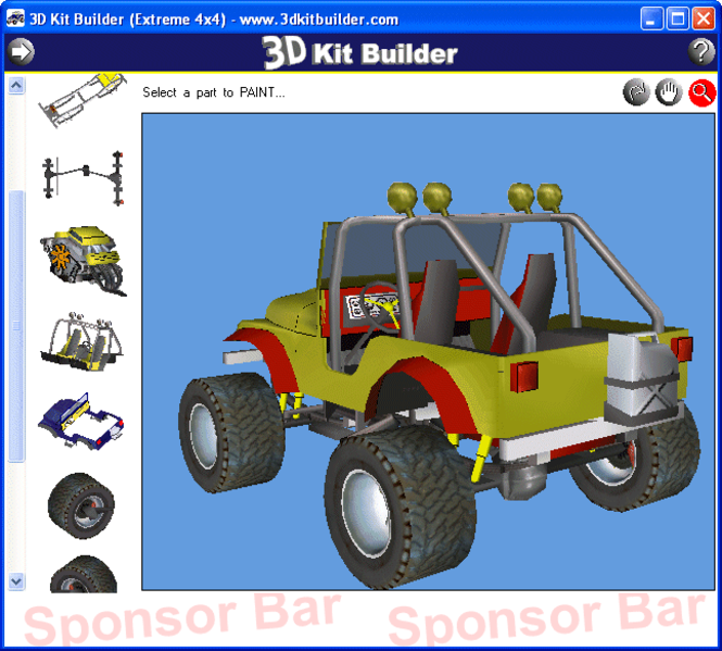 3D Kit Builder (Extreme 4x4) Screenshot 1