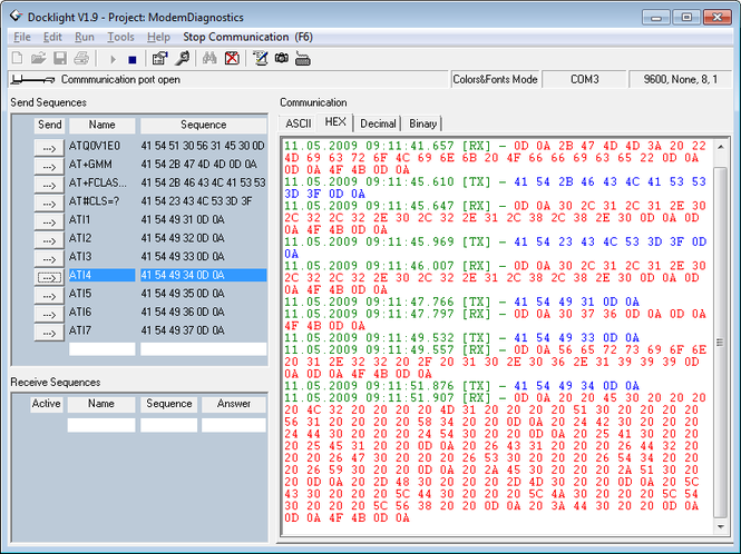 Docklight RS232 Terminal - RS232 Monitor Screenshot