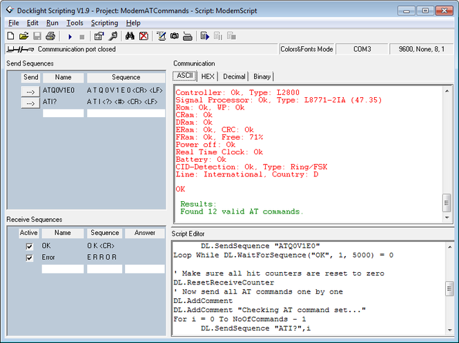 Docklight Scripting Screenshot