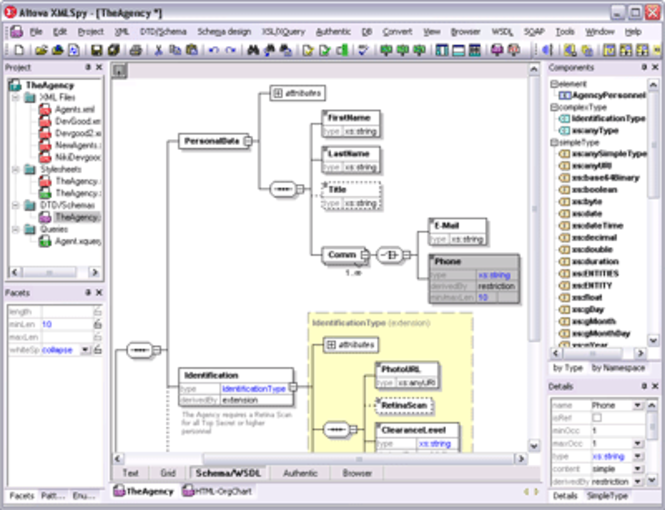 Altova XMLSpy Enterprise Edition Screenshot
