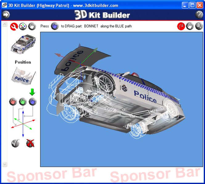 3D Kit Builder (Highway Patrol) Screenshot 2