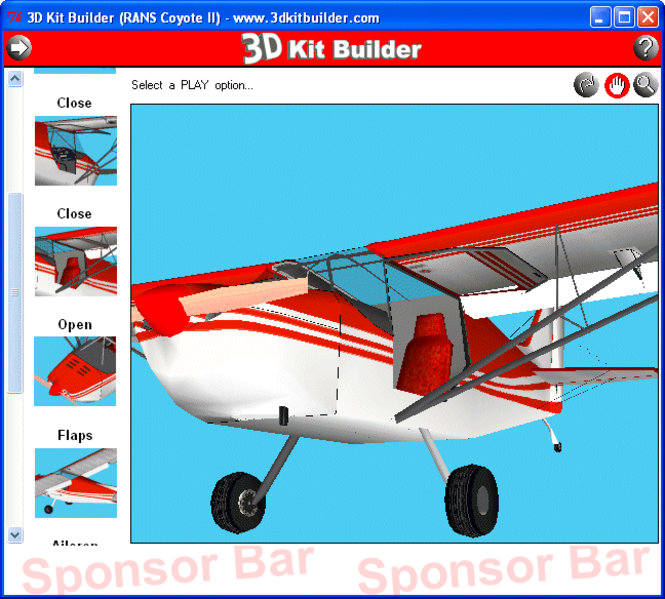 3D Kit Builder (RANS Coyote II) Screenshot