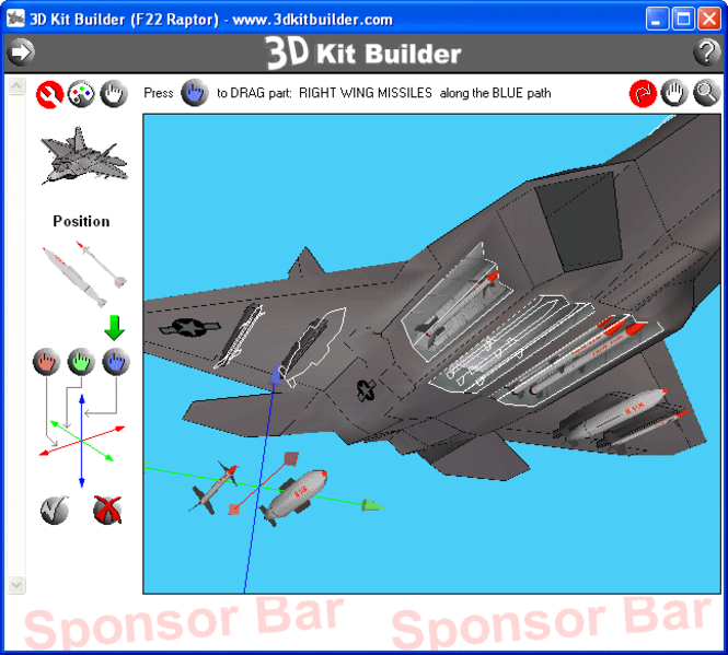 3D Kit Builder (F22 Raptor) Screenshot