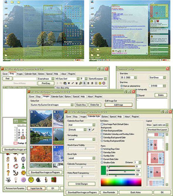 Art Plus Wallpaper Calendar Lite Screenshot