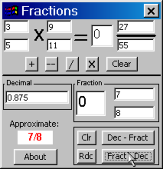 Fractions n Decimals CE Screenshot