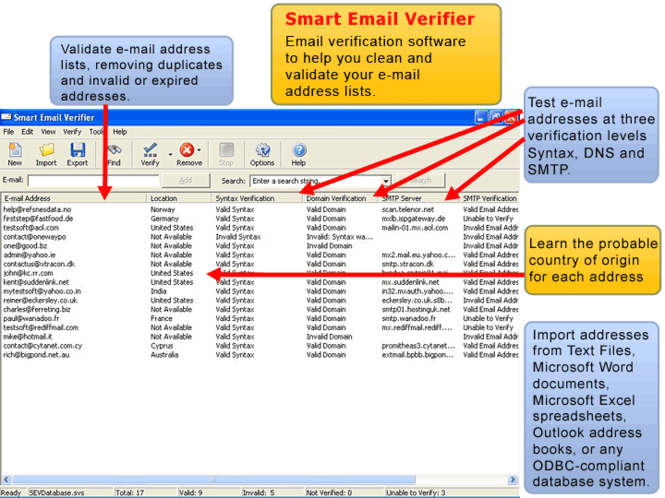 Smart Email Verifier Screenshot