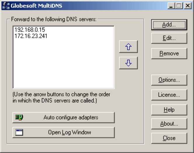 MultiDNS Screenshot