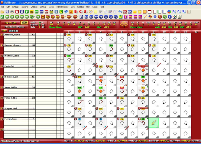 BallStat/BallScore Screenshot