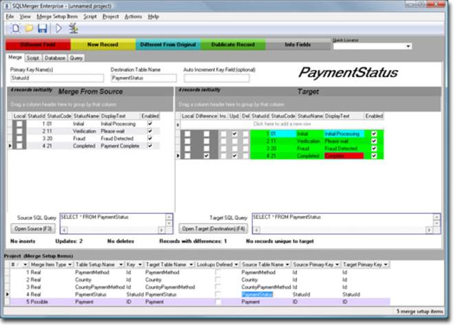 SQLMerger Screenshot