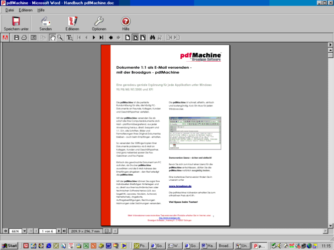pdfServMachine Screenshot