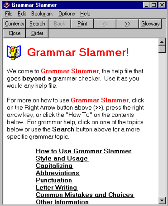 Grammar Slammer Screenshot 1