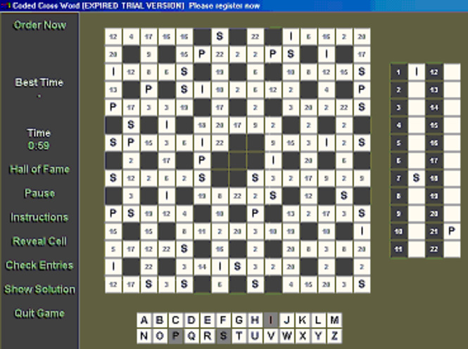 Coded X-Word Screenshot