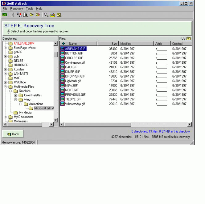 GetDataBack Data Recovery for FAT Screenshot 1