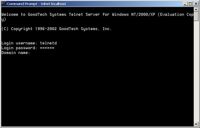 Telnet Server for Windows NT/2000/XP/2003 Screenshot 2