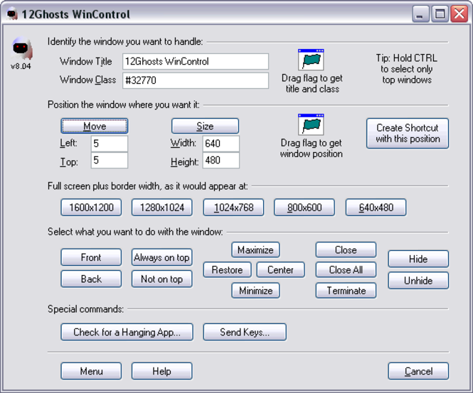 12Ghosts WinControl Screenshot 1