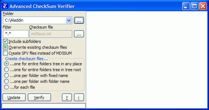 Advanced CheckSum Verifier Screenshot