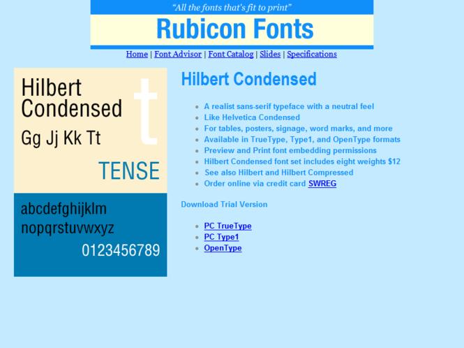 Hilbert Condensed Font TT Screenshot 1