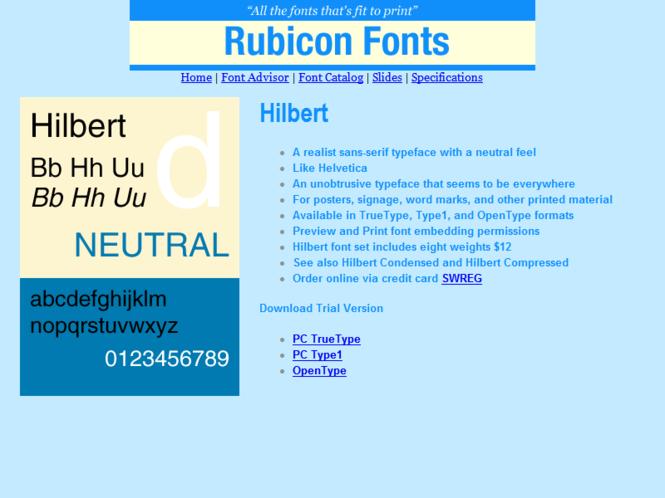 Hilbert Font Type1 Screenshot 1